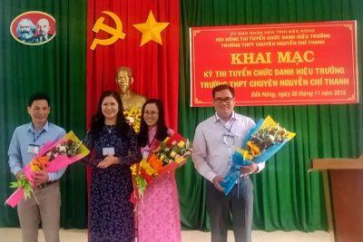 Khai mạc kỳ thi tuyển chức danh Hiệu trưởng trường THPT chuyên Nguyễn Chí Thanh
