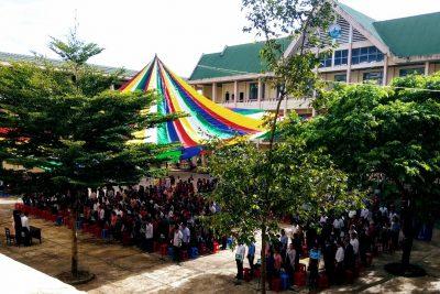 Toàn trường mặc niệm tiễn đưa chủ tịch nước Trần Đại Quang