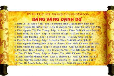 Trường THPT chuyên Nguyễn Chí Thanh có 13 giải trong kỳ thi HSG Quốc gia 2019